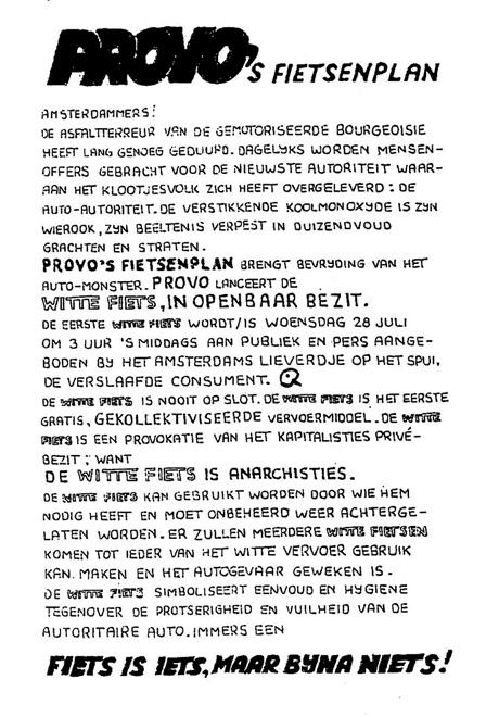 Original Dutch White Bike Sharing Manifesto
