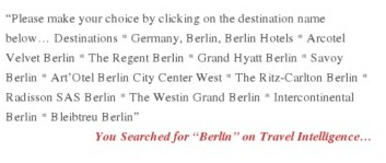 Travel Intelligence