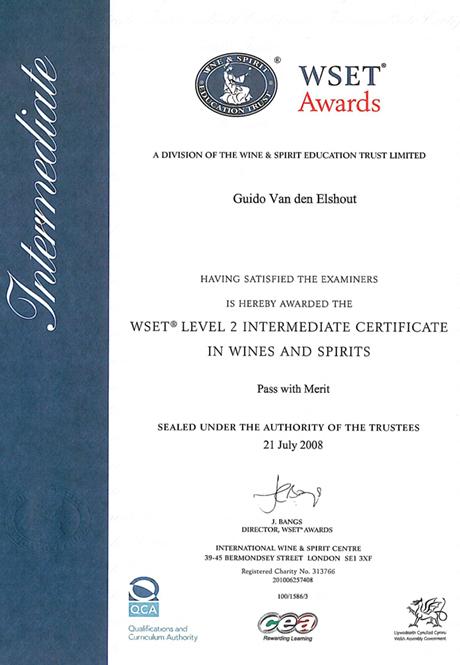 Wset Certificate