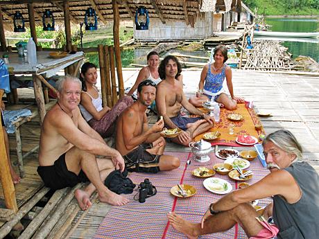 Barbara Weibel food at the 'resort' at the Khlong Saeng Sanctuary in Thailand