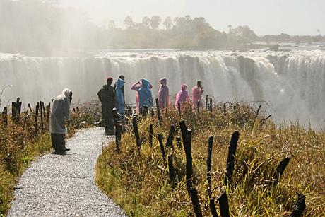Barbara Weibel Victoria Falls in Zimbabwe