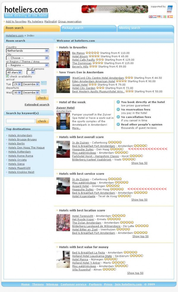 Hoteliers-Com-Landing-Page-as-at-December-29,-2009