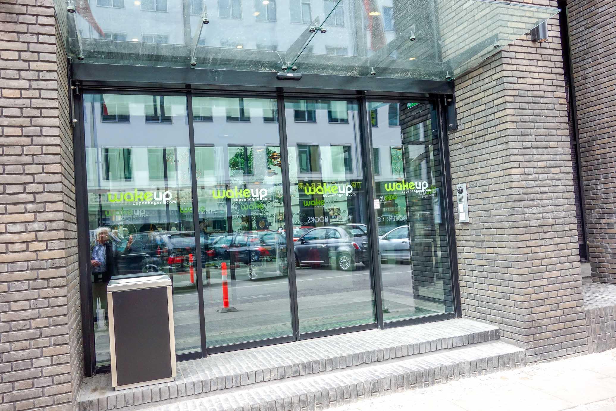 Entrance of Borgergrade Wakeup in Copenhagen