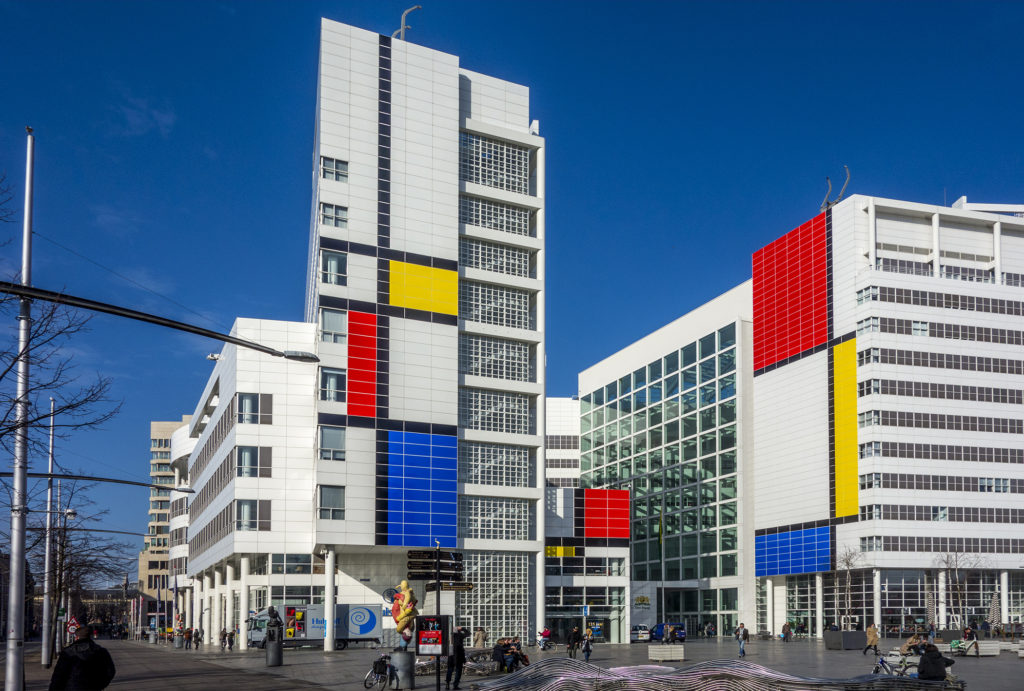 De Stijl Centennial colors The Hague all white city hall