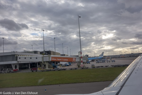 Platform of AMS airport Schiphol