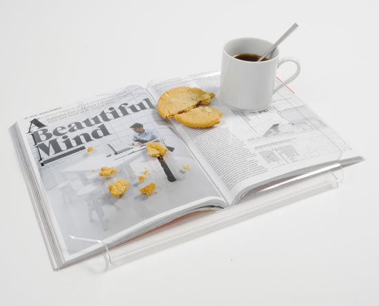 See Through Reading Tray by Yu Hun Kim